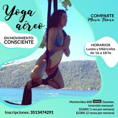 Flyer: yoga aéreo